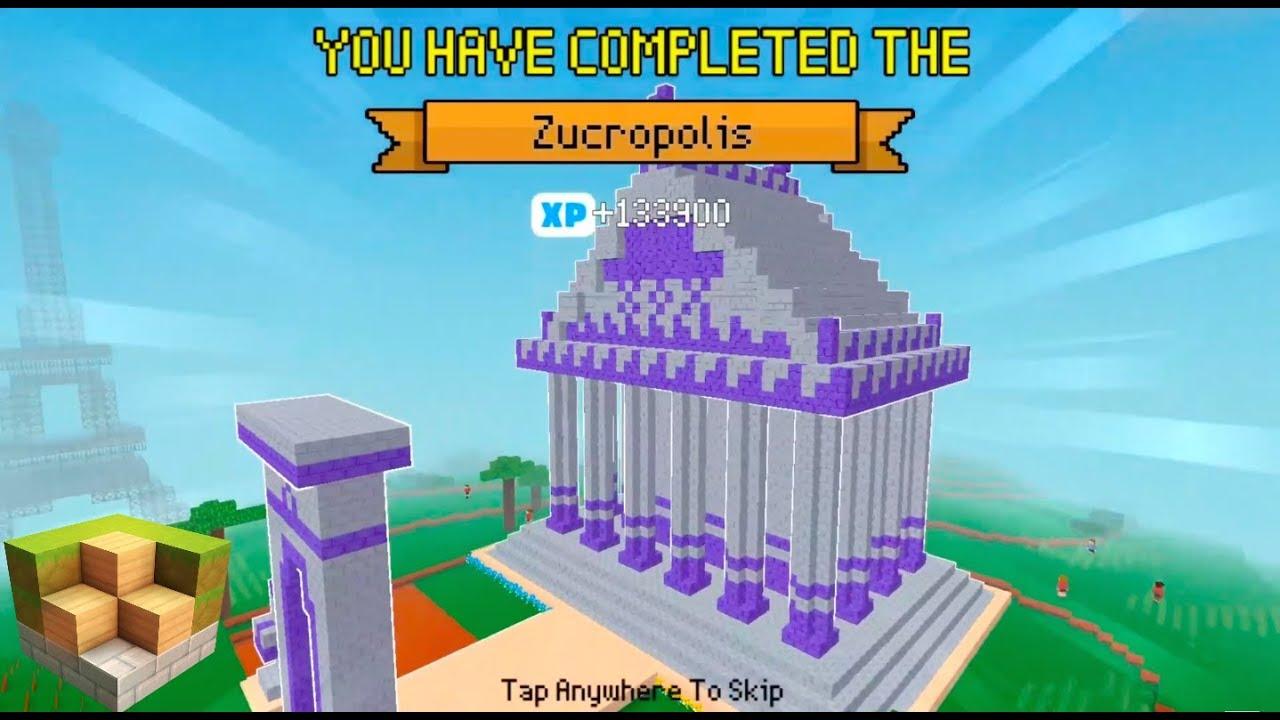 Block craft 3d mobile gameplay zucropolis timelapse for Block craft 3d online play