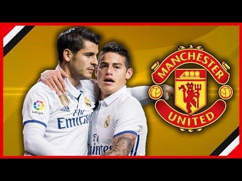 ALVARO MORATA £60M TO MAN UNITED, JAMES RODRIGUEZ TOO? | MUFC TRANSFER NEWS