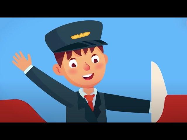 Ben Pilotum Uçak Uçururum - Çocuklar İçin Meslekler Şarkısı