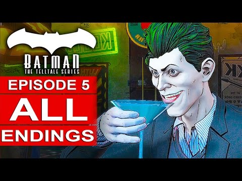 BATMAN Telltale Episode 5 ALL ENDINGS - Attend As Batman / A