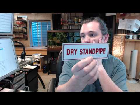 Brooks A229Sprinkler Identification Sign DRY STANDPIPE - 6 x 2