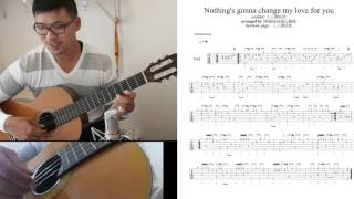 英俊fingerstyle 教學   nothing gonna change my love for you