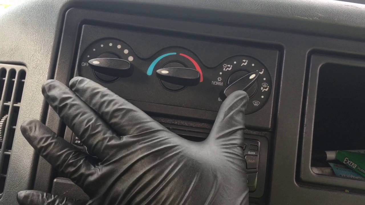 2007 international 4300 dt466 trouble shooting the a/c controls