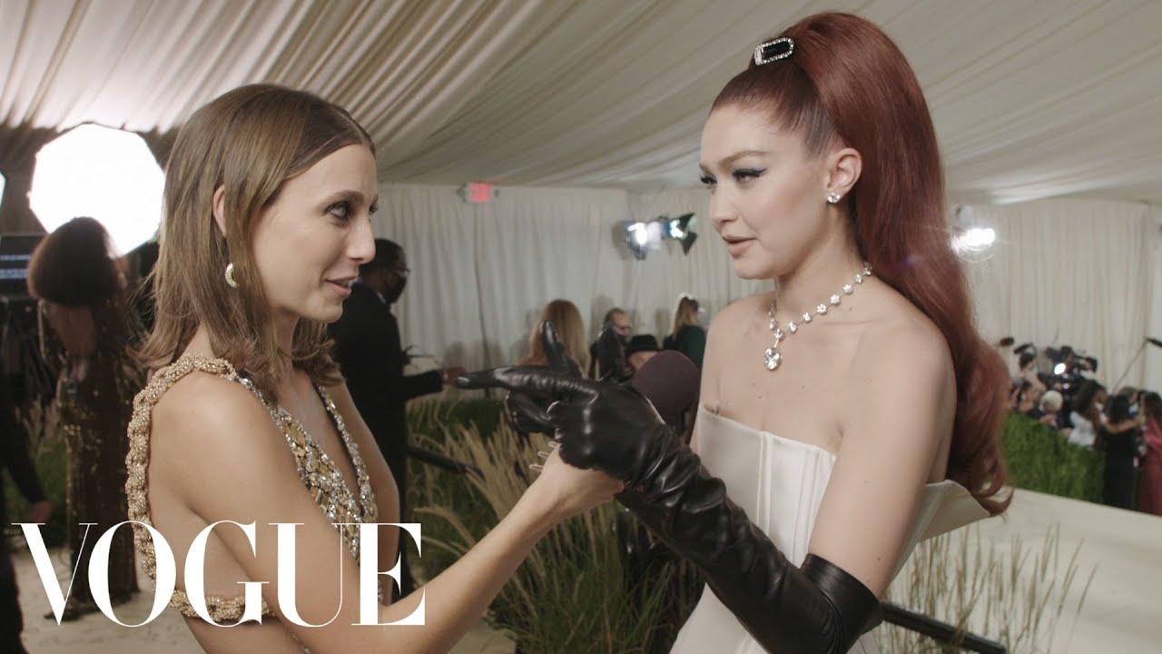 Gigi Hadid on Being a Farm Mom & Celebrating America   Met Gala 2021 With Emma Chamberlain   Vogue