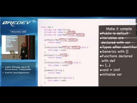 Scala for Java programmers - Joakim Ohlrogge & Enno Runne