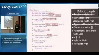 Scala for Java programmers - Joakim Ohlrogge & Enno Runne