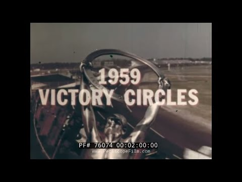 "1959 ""VICTORY CIRCLES"" INDIANAPOLIS 500 MOTOR SPEEDWAY STOCK CAR RACING 76074"