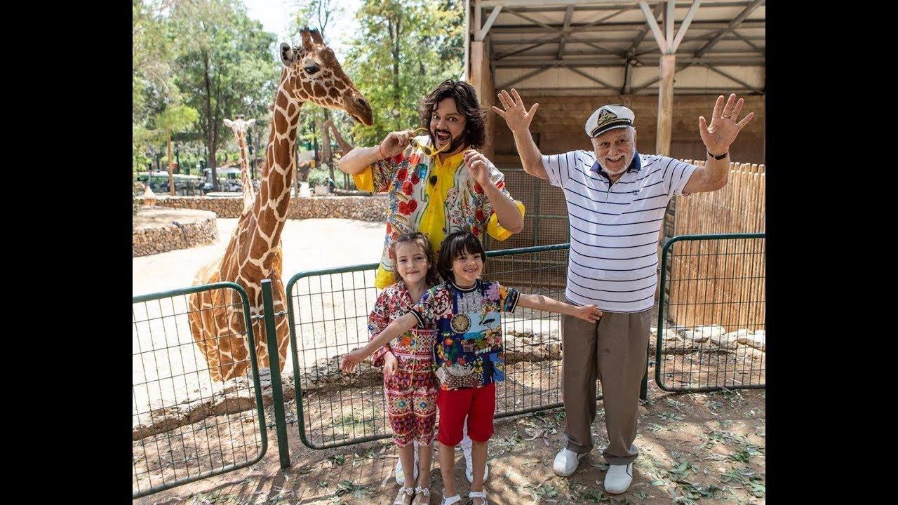 Филипп Киркоров с детьми в Сафари-Зоопарке. Тель-Авив, 15.05.2019