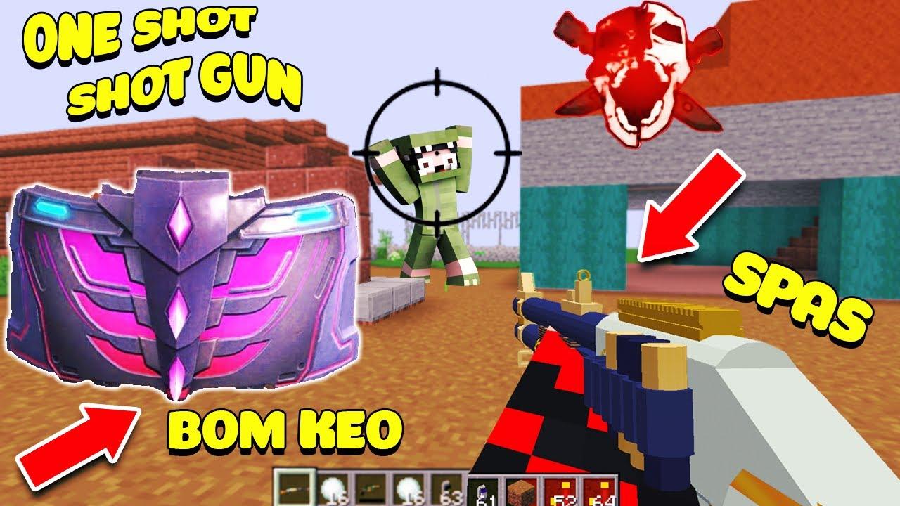 Download MINECRAFT TỬ CHIẾN FREE FIRE ** NOOB TEAM BẮN ONE SHOT SHOTGUN ** BOM KEO TRONG MINECRAFT???