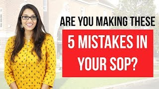 Statement of Purpose: 5 SOP Mistakes [2018] & how to avoid them for Top MS Admits
