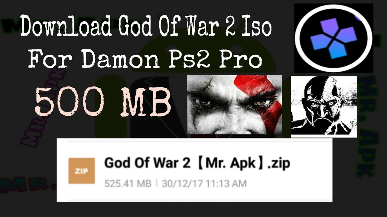 God Of War 2 Damon Ps2 Pro 500 MB | Highly Compress God Of War 2 For Damon  Ps2 Pro | God Of War2 Iso