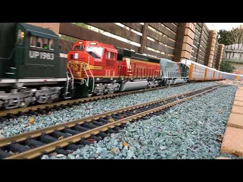 G scale autorack train.