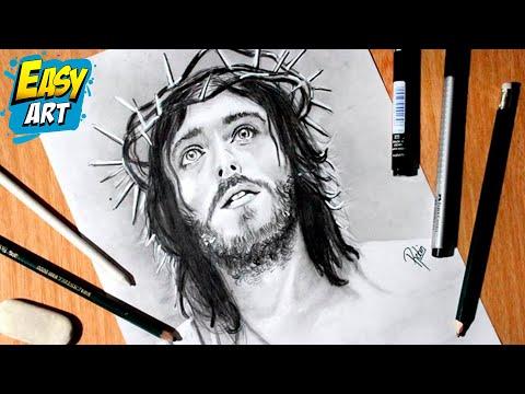 Como Dibujar A Jesus How To Draw Jesus Semana Santa Dios Youtube