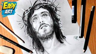 Como Dibujar a Jesús - How to Draw Jesus - Semana Santa - Dios