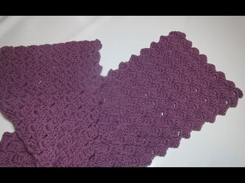 Uncinetto Crochet Sciarpa Tutorial Passo A Passo Schema Youtube