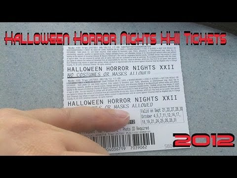 frodo sold me my halloween horror nights 22 2012 xxii tixs - Halloween Horror Nights Free Tickets