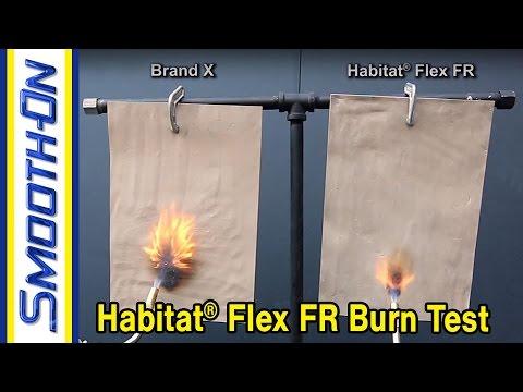 Habitat® Flex FR Epoxy Burn Test