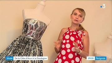 Svetlana, créatrice de Haute-Couture installée à Savignac-Lédrier