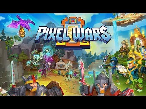 Pixel Wars — MMO Action #1 Gameplay Обзор Первый взгляд Летсплей (Android,APK) Обучение и бои
