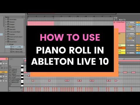 Как открыть piano roll в ableton