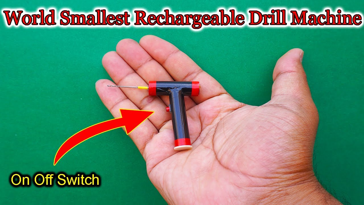 Download World's Smallest Rechargeable Drill Machine| How To Make Smallest Drill Machine | Mini Drill Machine