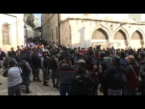 Tensions in Jerusalem's Old City after Friday prayers