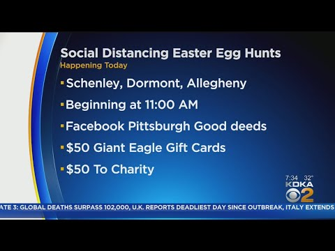 Local Communities Hold Social Distancing Easter Egg Hunts