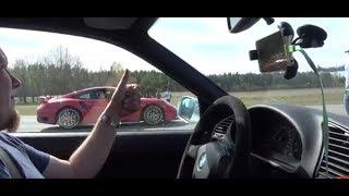 [4k] RACE BMW M3 E36 Turbo vs Porsche 991 Turbo S Mk I 560 HP SURPRISE!
