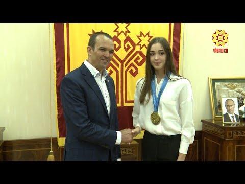 Глава республики встретился с трёхкратной чемпионкой мира по художественной гимнастике.
