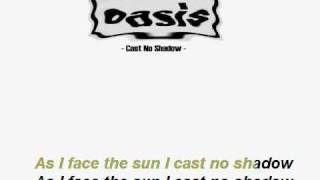(Karaoke) Oasis -Cast No Shadow- acoustic backing track + lyrics