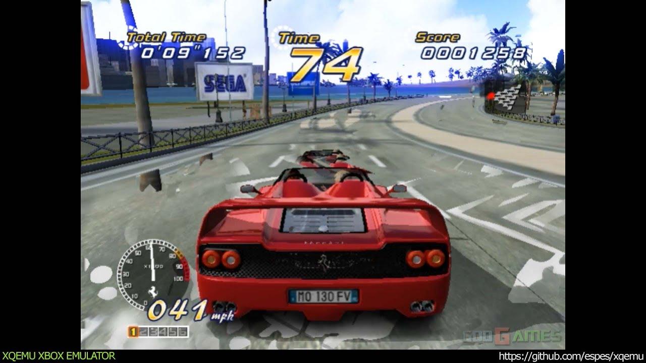 XQEMU Xbox Emulator - Outrun 2 Ingame - realtime! (1d968aa)