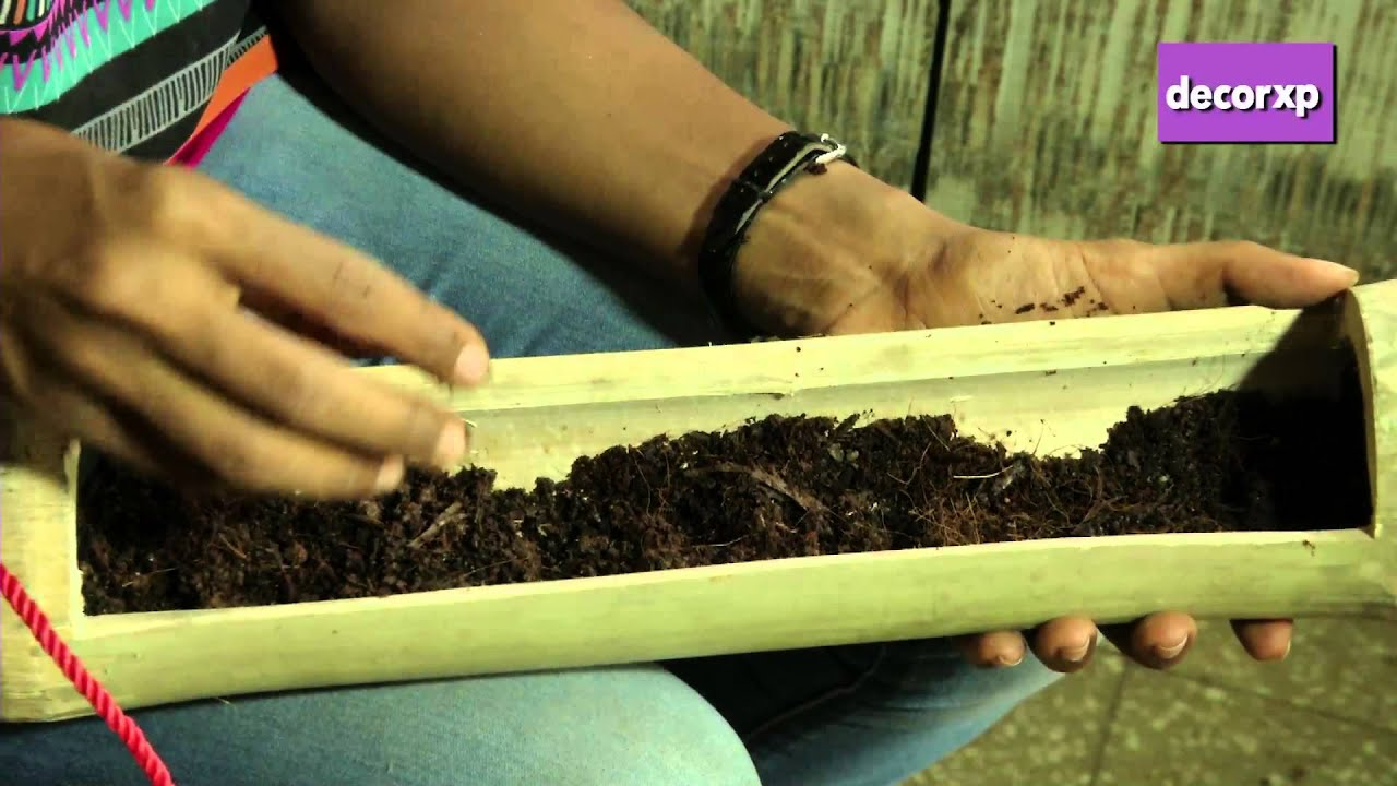 How To Make A Bamboo Planter