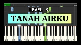 not piano tanah airku - lagu wajib nasional - tutorial level 3