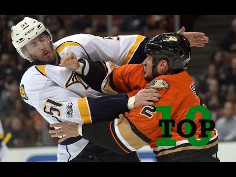 Top Ten NHL Hockey Fights of 2017