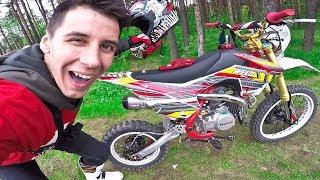 Подарили Мотоцикл - И Уже Улетел В Кусты