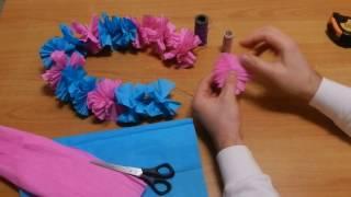 видео Как сделать гавайскую юбку «хула» своими руками
