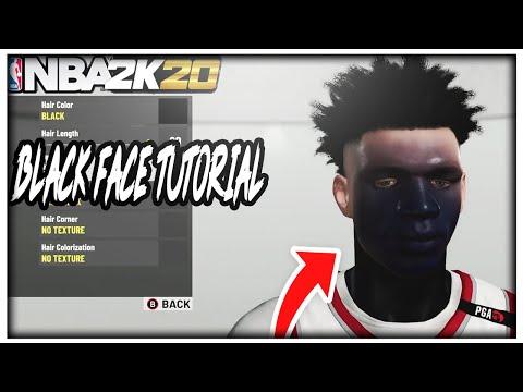 NBA 2K20 BLACK FACE GLITCH TUTORIAL! NBA 2K20 HOW TO GET BLACK FACE GET Super Rare FaceScan! PS4/XB1