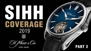 SIHH 2019: H. Moser & Cie Swiss Alp Minute Repeater, Pioneer Diver and Flying Tourbillon