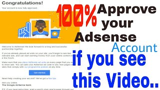 100% Approved your AdSense Account.. if you see this video (Bengali)