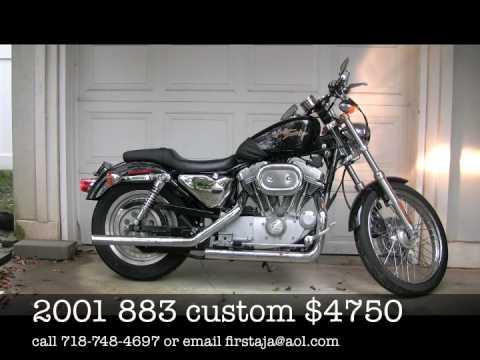harley davidson forsale 2001 883 custom sportster $4250