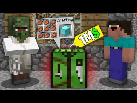 Minecraft NOOB Vs PRO:NOOB BOUGHT THIS ZOMBIE CRAFTING TABLE FOR 1.000.000$! Challenge 100% Trolling