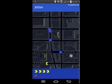 Playing Pac Man On Android Phone [Google Maps]
