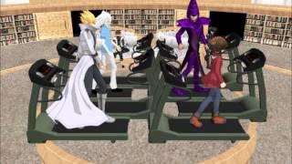 {MMD} Yu-Gi-Oh Karaoke Episode 9 Dark Magician, Jack, Ryou, and Jaden Here it goes again