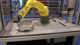 Simulated Robotic Deburring Application on FANUC LR MATE Robot by Air Turbine Motors® 740XP and 730