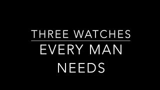 THREE WATCHES every man needs | ACCESSORIES | Men's Fashion | Men's Style