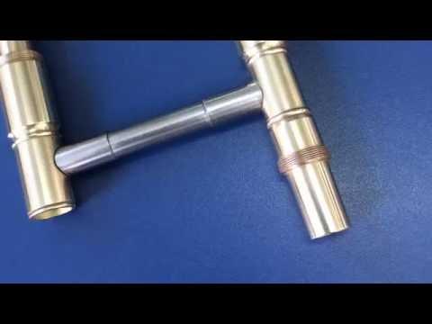 Banho de níquel e cromo em vara interna trombone - Padovani instrumentos