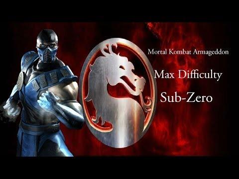 Mortal Kombat Armageddon - Sub-Zero - Max Difficulty - No Matches Lost (Commentary)