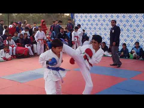 Karate fight @ Charkhi Dadri Shaheed Bhagat Singh Sports Academy.