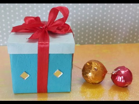 EASY ORIGAMI GIFT BOX  HOW TO MAKE A SMALL PAPER GIFT BOX IN 5