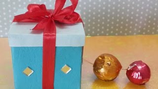 EASY ORIGAMI GIFT BOX : HOW TO MAKE A SMALL PAPER GIFT BOX IN 5 MINUTES!
